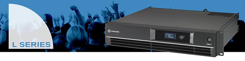 Серия двухканальных усилителей мощности DYNACORD L-Series для концертного применения