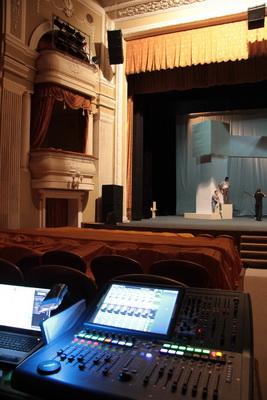 Цифровая микшерная консоль Midas PRO1 полностью удовлетворяет потребностям театра для реализации творческих замыслов режиссера и автоматизации процессов управления звуком