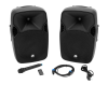 OMNITRONIC XFM-212AP Active 2-Way Speaker Set with Wireless Microphone